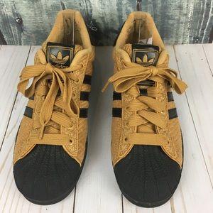 adidas Superstar Knit Sneakers Black & Caramel 12